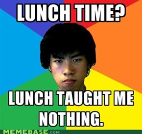 Studious Asian of Lunch