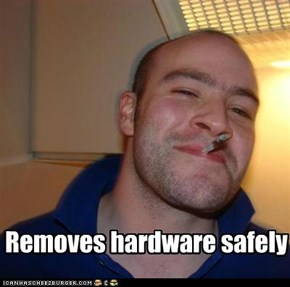 Good Guy Greg Protects His Flash Drive