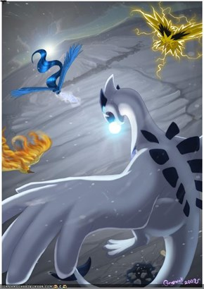 The Lengendary Birds and Lugia