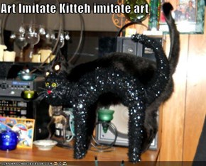 Art Imitate Kitteh imitate art