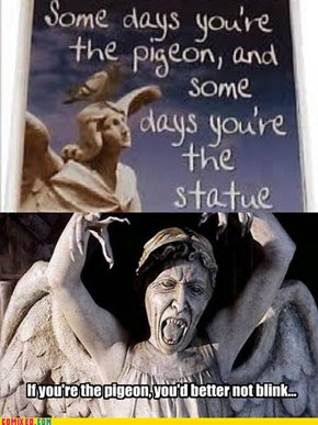 Don't mess with (or on) the statue...
