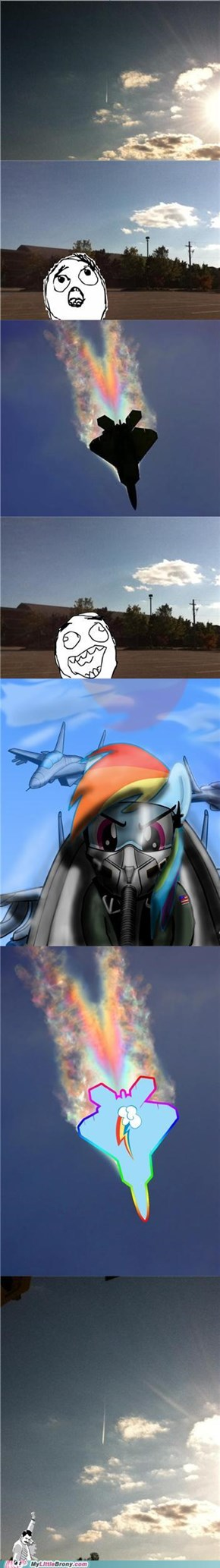 Bird? Plane? Rainbow Dash!