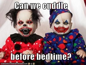 Can we cuddle  before bedtime?