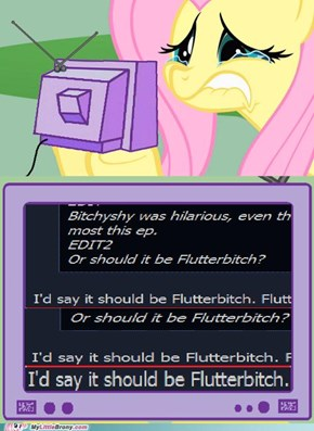 Words hurt, careful how you use them bronies.