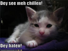 Dey see meh chillen!  Dey haten!