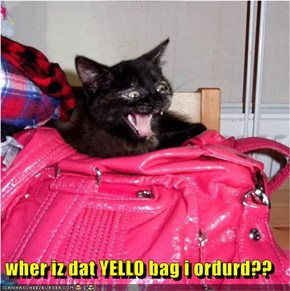 wher iz dat YELLO bag i ordurd??