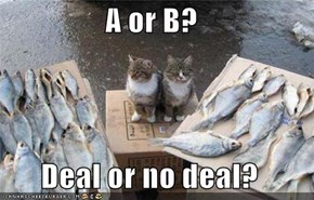 A or B?  Deal or no deal?