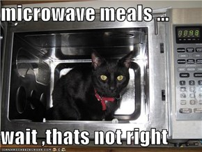 microwave meals ...  wait ,thats not right