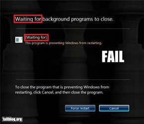 Windows 7 Shutdown FAIL