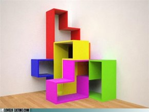 3D Tetris Shelves