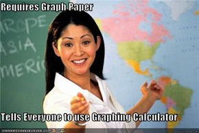 Requires Graph Paper  Tells Everyone to use Graphing Calculator