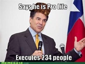Scumbag Rick Perry