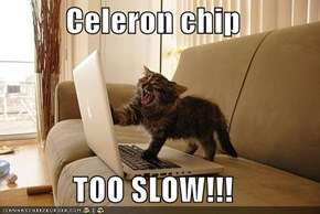 Celeron chip  TOO SLOW!!!