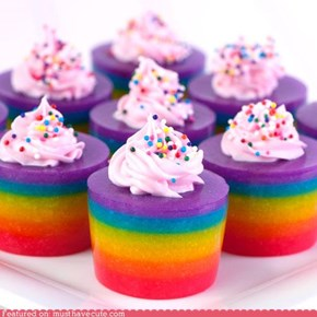 Epicute: Double Rainbow Cake Jelly Shots