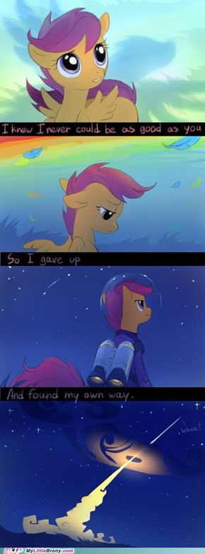 Scootaloo Has Her Own Ways