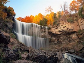 Happy Autumn! -- Webster Falls, Hamilton, Ontario, Canada