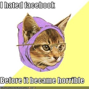 I hated facebook  Before it became horrible