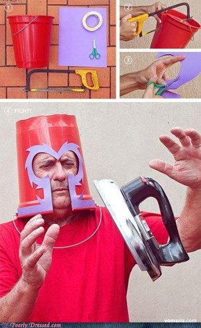 A Magneto Helmet Made Out of Plastic? Makes Sense