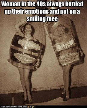Woman in the 40s always bottled up their emotions and put on a smiling face