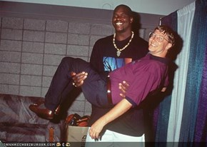 shaq carrying bill gates meme?