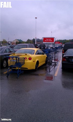 Parking in the cart return