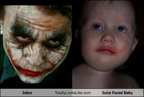 Joker Totally Looks Like Juice Faced Baby