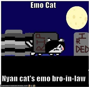 Emo Cat   Nyan cat's emo bro-in-law