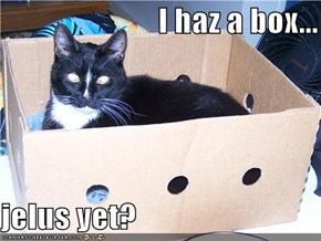 I haz a box...  jelus yet?