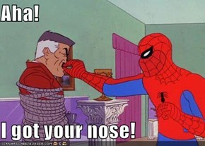 Aha!   I got your nose!