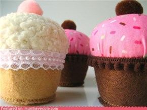 Bean Bag Cupcake Plushies