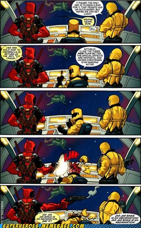 Deadpool hates prequels.