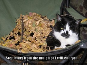 Step away from the mulch or I will end you.
