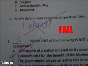 Defending Your Answer FAIL