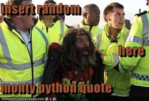 insert random here monty python quote