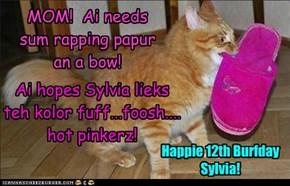 Tu Sylvia wiff Luvs:Frum teh allcats gang!