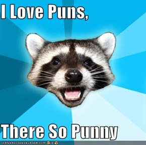 I Love Puns,  There So Punny