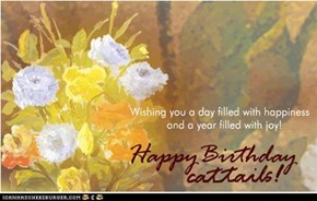 Happy birthday, cattails