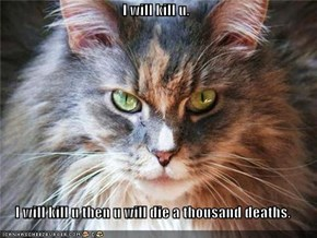 I will kill u.  I will kill u then u will die a thousand deaths.