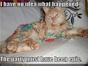 I have no idea what happened.  The party must have been epic.