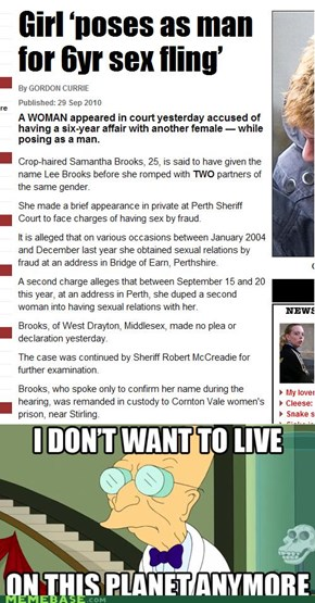 Samantha Brooks: Don't want to live on this planet anymore
