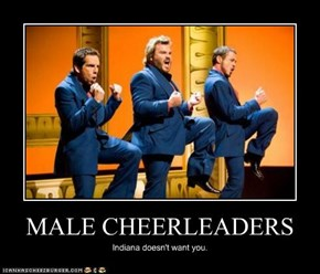 MALE CHEERLEADERS