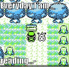 Everyday I am  reading...-