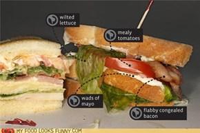 The sadly badly club sandwich :(
