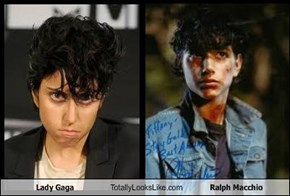 Lady Gaga Totally Looks Like Ralph Macchio