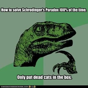 Philosoraptor doesn't see the problem.