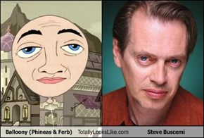Balloony (Phineas & Ferb) Totally Looks Like Steve Buscemi