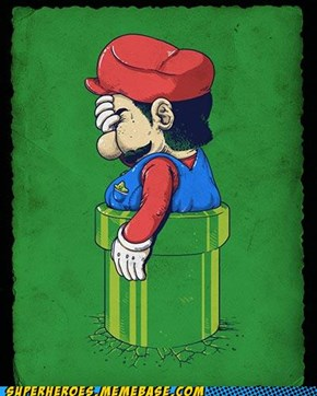 No more pizza for you, Mario...