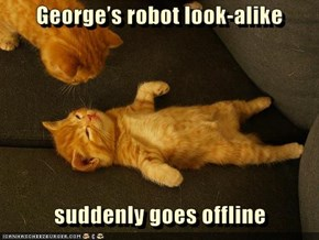 George's robot look-alike     suddenly goes offline
