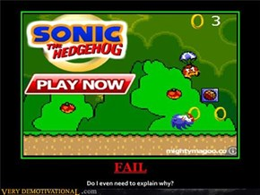 FAIL Sonic the Hedgehog Ad