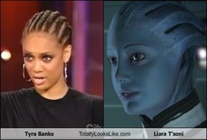 Tyra Banks Totally Looks Like Liara T'soni